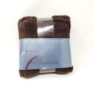 Charisma Brown Soft Luxury Bath Towel Set
